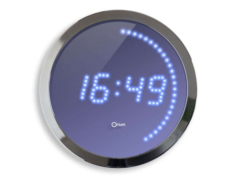 Horloge led 30 cm led bleue vente de horloge conforama - Decoration murale led ...
