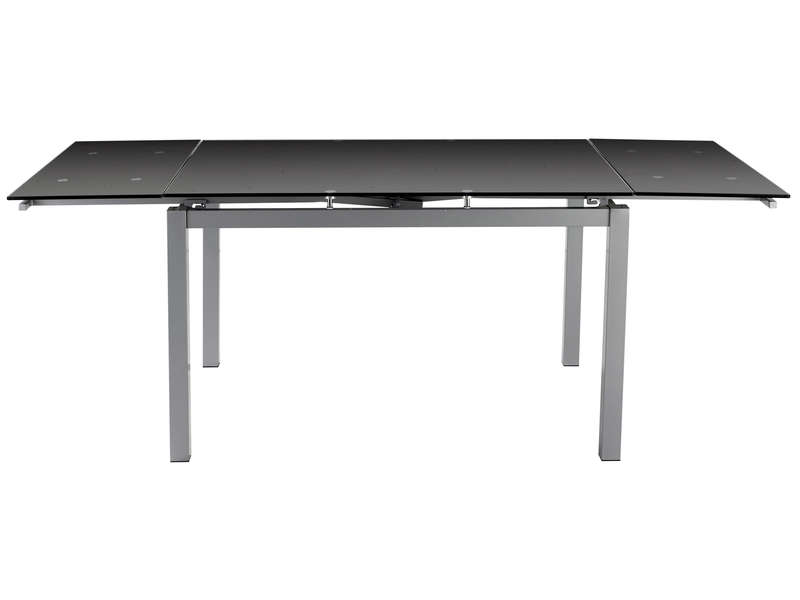 Table rectangulaire avec allonge 200 cm max tokyo 3 for Table noire avec rallonge