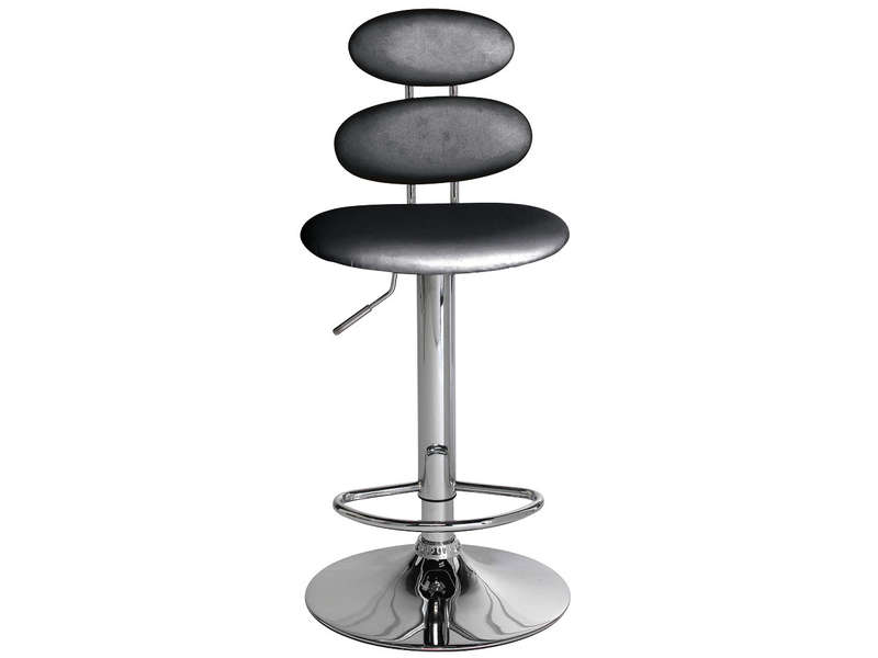 Tabouret de bar circle coloris noir vente de bar et - Tabouret de bar a dossier ...