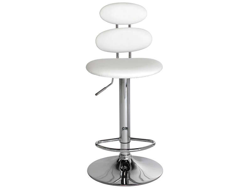 Tabouret de bar circle coloris blanc vente de bar et - Tabouret de bar confortable ...