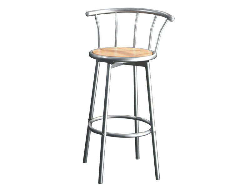 Tabouret de bar pivotant brice coloris argent vente de for Bar pivotant cuisine