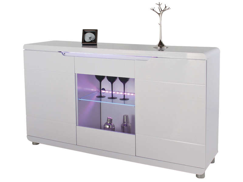 buffet bel air coloris blanc vente de buffet bahut vaisselier conforama. Black Bedroom Furniture Sets. Home Design Ideas