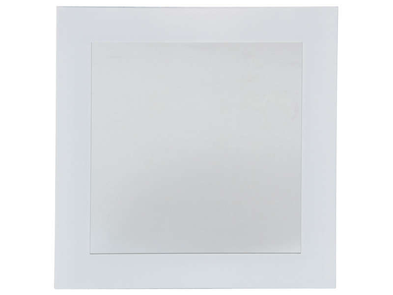 Miroir 40x40 cm coloris blanc first coloris blanc vente for Miroir mural conforama
