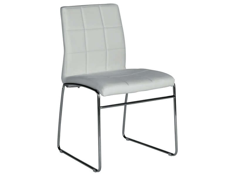 Chaise cube coloris blanc chez conforama for Chaise chez conforama