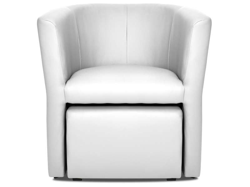 cabriolet pouf manon coloris blanc en pu vente de tous les fauteuils conforama. Black Bedroom Furniture Sets. Home Design Ideas