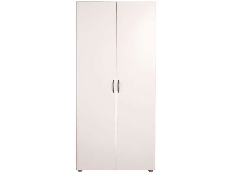 armoire 2 portes zippie 2 coloris blanc vente de armoire conforama. Black Bedroom Furniture Sets. Home Design Ideas