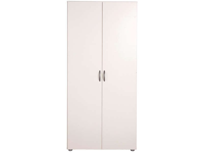 armoire 2 portes zippie 2 coloris blanc vente de armoire. Black Bedroom Furniture Sets. Home Design Ideas