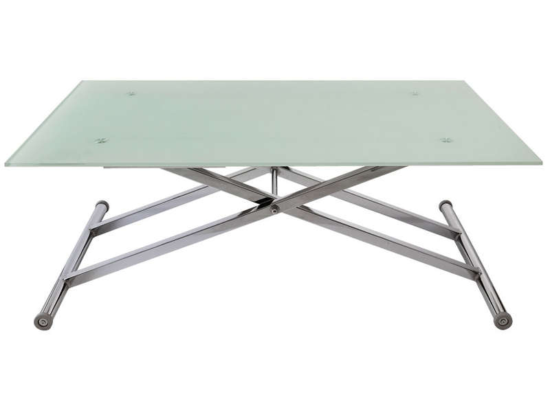 Table basse moov up vente de table basse conforama - Table relevable en verre ...