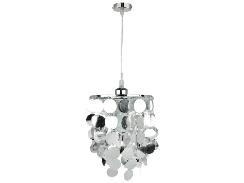 Suspension boop coloris chrome vente de luminaire enfant conforama