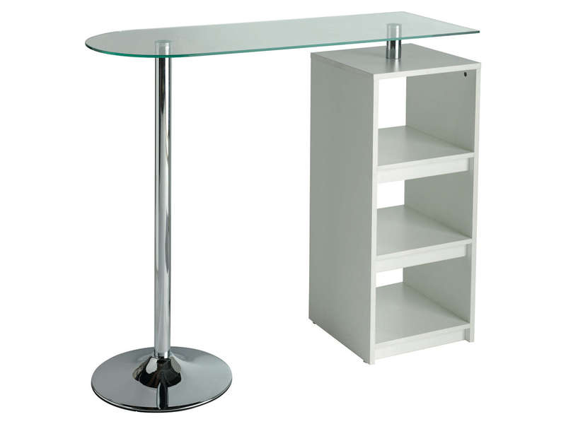 Table de bar youen vente de table de cuisine conforama for Dimension table de cuisine