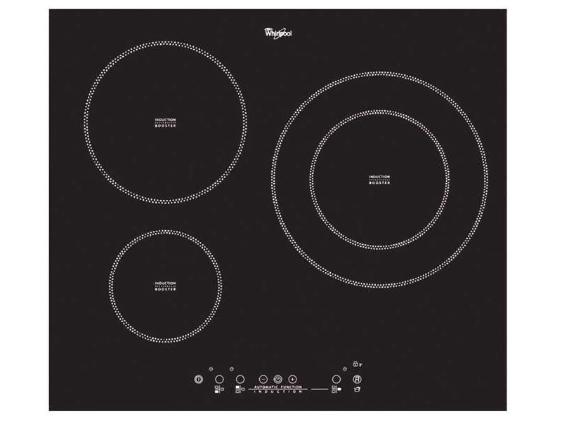 Table de cuisson induction 3 foyers whirlpool acm 787 - Table induction blanche 3 foyers ...