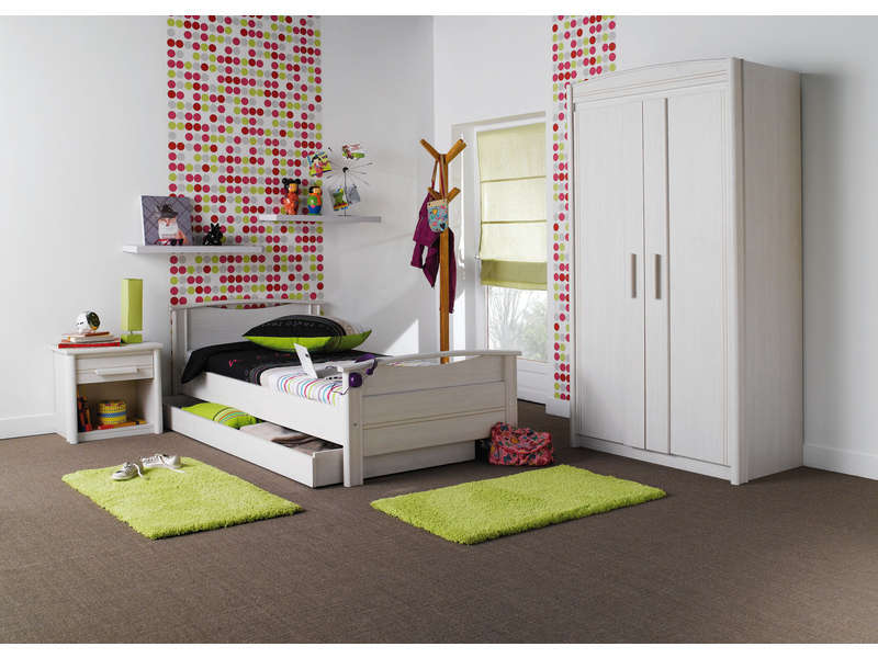 lit 90 x 190 cm montana coloris fr ne blanchi vente de lit enfant conforama. Black Bedroom Furniture Sets. Home Design Ideas