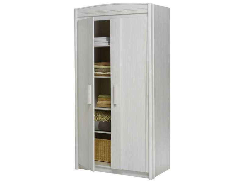 armoire 2 portes montana coloris fr ne blanchi vente de. Black Bedroom Furniture Sets. Home Design Ideas
