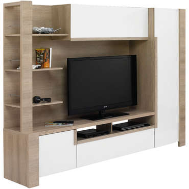 meuble tv mural lounge chez conforama ref 501374. Black Bedroom Furniture Sets. Home Design Ideas