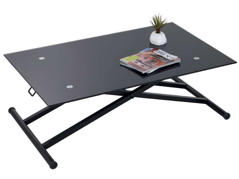 Table basse escamotable stand up vente de table basse conforama - Table en verre pliante ...