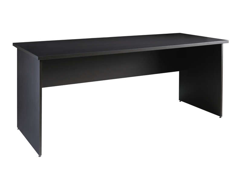 bureau 160 cm first teinte weng fonc le fait main. Black Bedroom Furniture Sets. Home Design Ideas