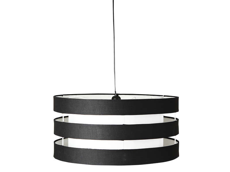 Suspension ferret coloris blanc et noir vente de for Luminaire noir suspension