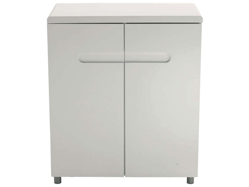 Rangement 2 portes easy 2 coloris blanc vente de buffet for Meuble 2 porte conforama
