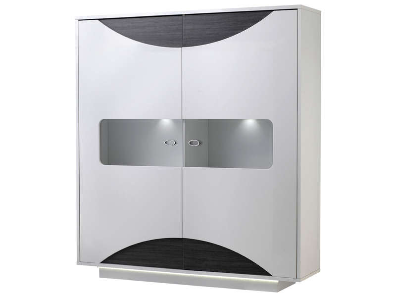 Rangement 2 portes wave vente de buffet bahut for Salle a manger conforama wave