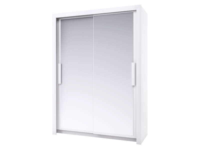 armoire 2 portes l154 cm perfect coloris blanc vente de