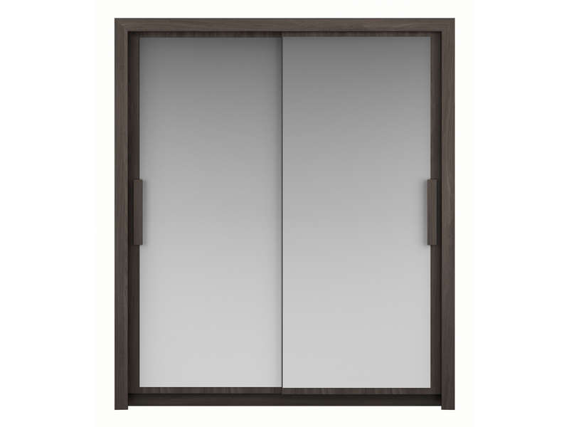 armoire 2 portes l182 cm perfect coloris orme gris vente. Black Bedroom Furniture Sets. Home Design Ideas