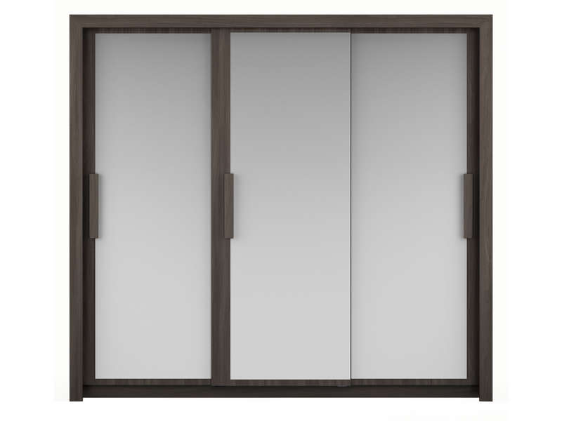 armoire 3 portes l229 cm perfect coloris orme gris chez. Black Bedroom Furniture Sets. Home Design Ideas