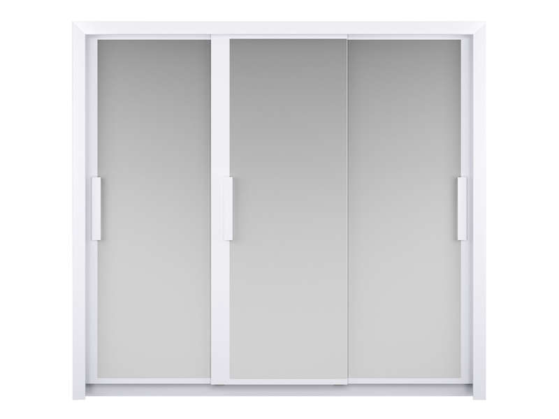 armoire 3 portes l229 cm perfect coloris blanc chez conforama. Black Bedroom Furniture Sets. Home Design Ideas