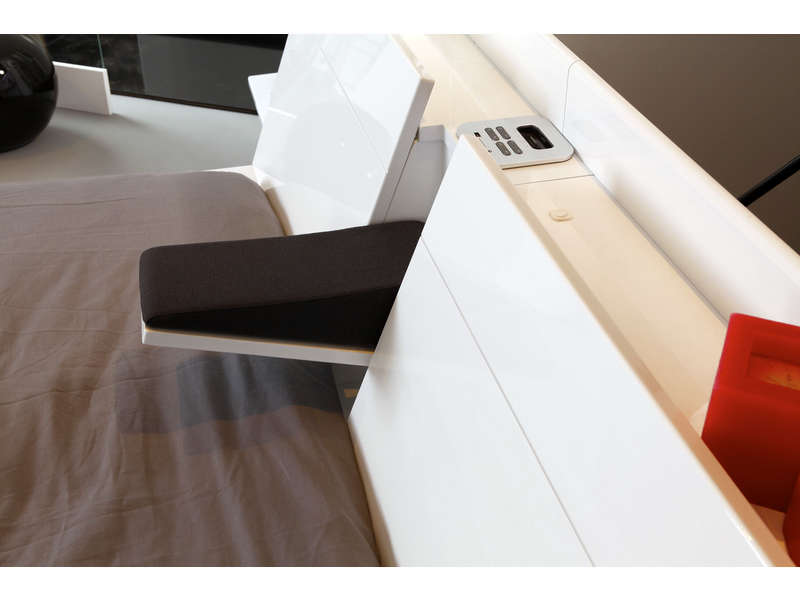 environnement lit 140 cm cocoon coloris blanc promodispo. Black Bedroom Furniture Sets. Home Design Ideas