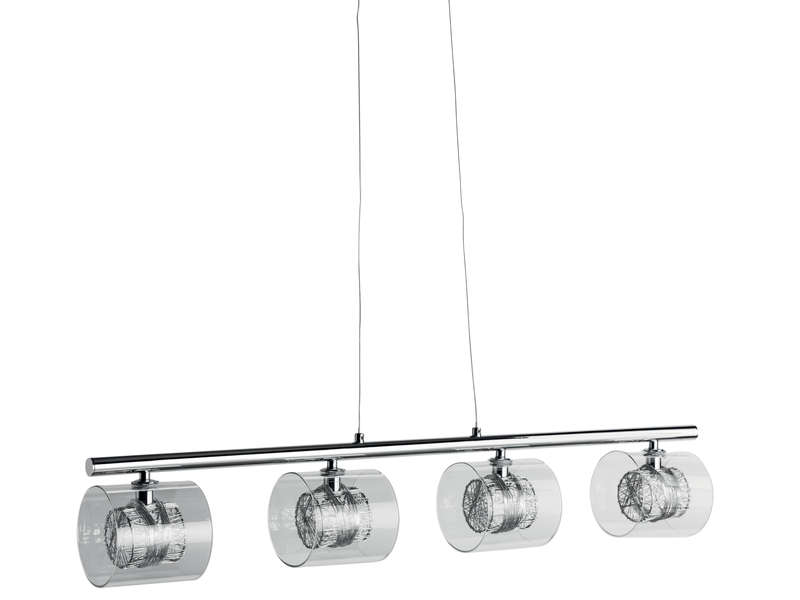 Lustre 4 lampes callas vente de lustre et suspension for Lustre conforama