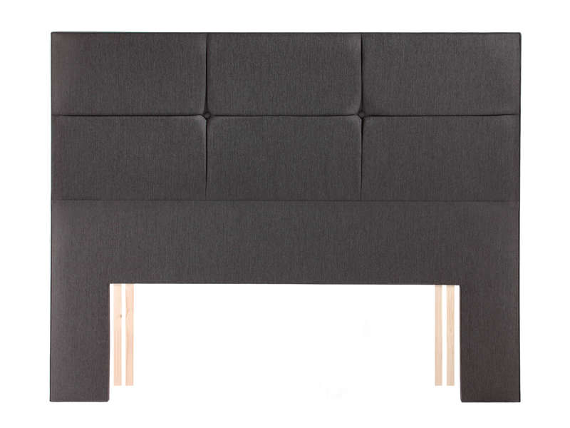 t te de lit l195 cm relyon contemporaine anthracite. Black Bedroom Furniture Sets. Home Design Ideas