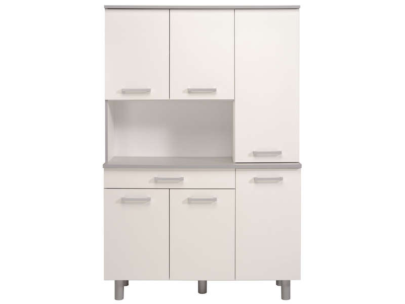Buffet opale coloris blanc vente de buffet de cuisine for Buffet de cuisine gris