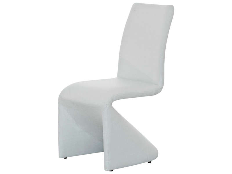 Chaise vision coloris blanc vente de deco25 conforama for Chaise blanche conforama
