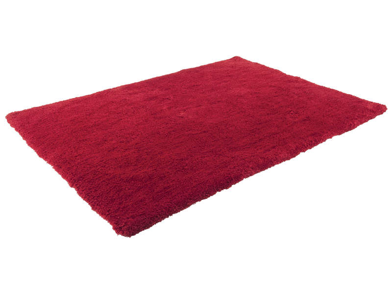 Tapis 120X170 cm VELOUR coloris rouge