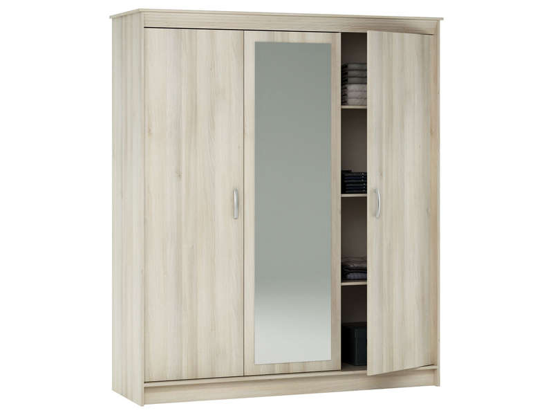 armoire 3 portes symphonie coloris acacia vente de. Black Bedroom Furniture Sets. Home Design Ideas