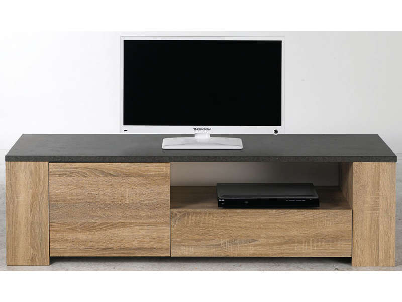 Banc tv fumay vente de meuble tv conforama for Table tv pas cher