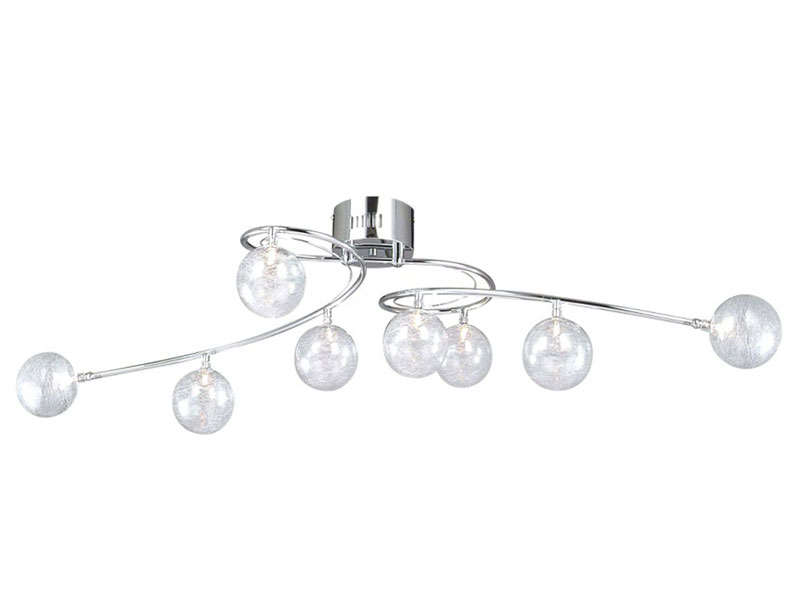 Plafonnier 8 lumi¨res CRYSTAL coloris chrome Vente de Spot et