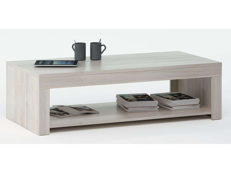 Table basse s conforama - Table de salon rectangulaire ...
