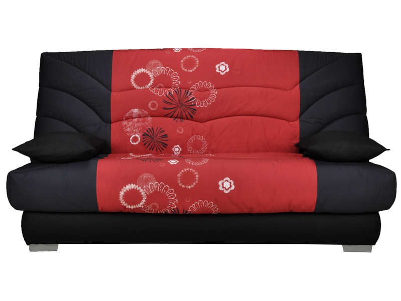 banquette clic clac maori coloris rouge noir vente de. Black Bedroom Furniture Sets. Home Design Ideas