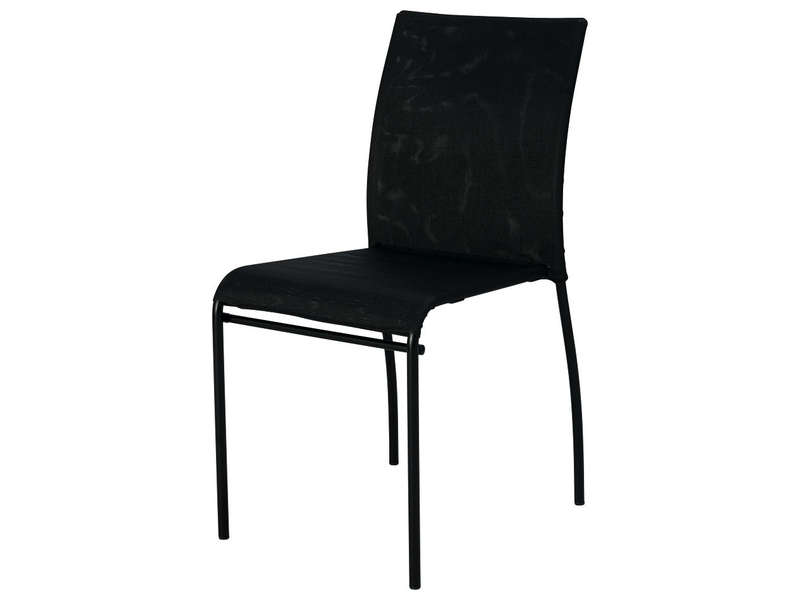 chaise kite coloris noir vente de chaise de cuisine conforama. Black Bedroom Furniture Sets. Home Design Ideas