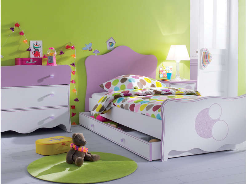 lit 90x190 cm elisa vente de lit enfant conforama. Black Bedroom Furniture Sets. Home Design Ideas