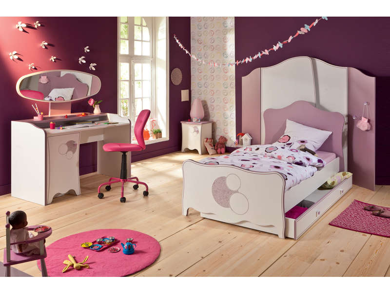 Lit 90x190 cm elisa vente de lit enfant conforama for Photo de lit pour fille