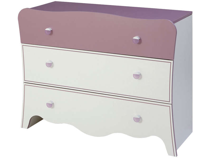 Commode 3 tiroirs ELISA - Vente de Commode enfant - Conforama