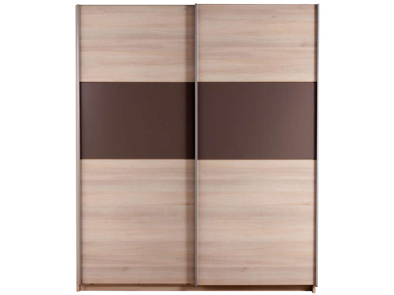armoire 2 portes coulissantes graphic coloris acacia vente de armoire conforama. Black Bedroom Furniture Sets. Home Design Ideas