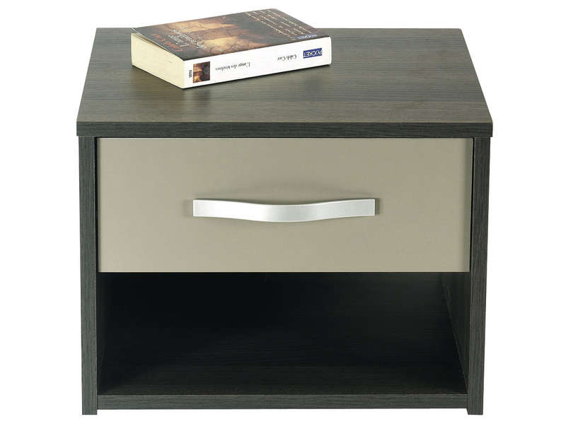 Chevet 1 tiroir graphic coloris chene vulcano vente de chevet conforama - Table de nuit alinea ...