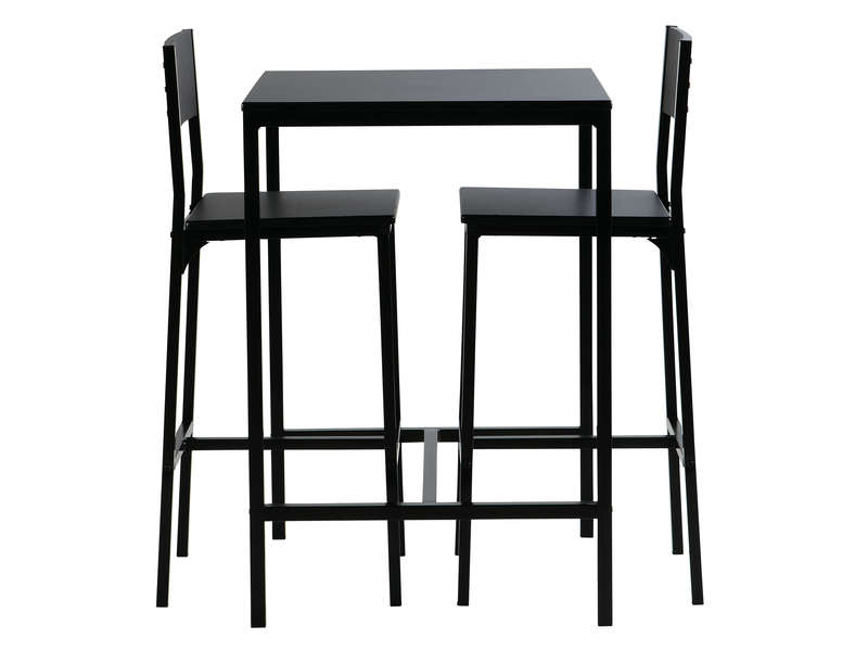 Ensemble coloris table2 noir tabourets de bar LOKO TFul3K1Jc