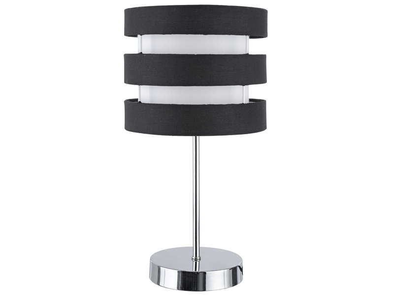 lampe ferret coloris noir blanc vente de lampe conforama. Black Bedroom Furniture Sets. Home Design Ideas