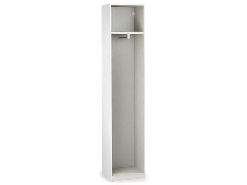 Caisse 1 porte cm no limit coloris blanc vente de armoire conforama for Porte placard 50 cm