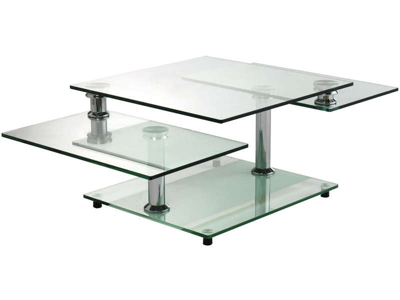Table basse en verre conforama for Table basse verre but