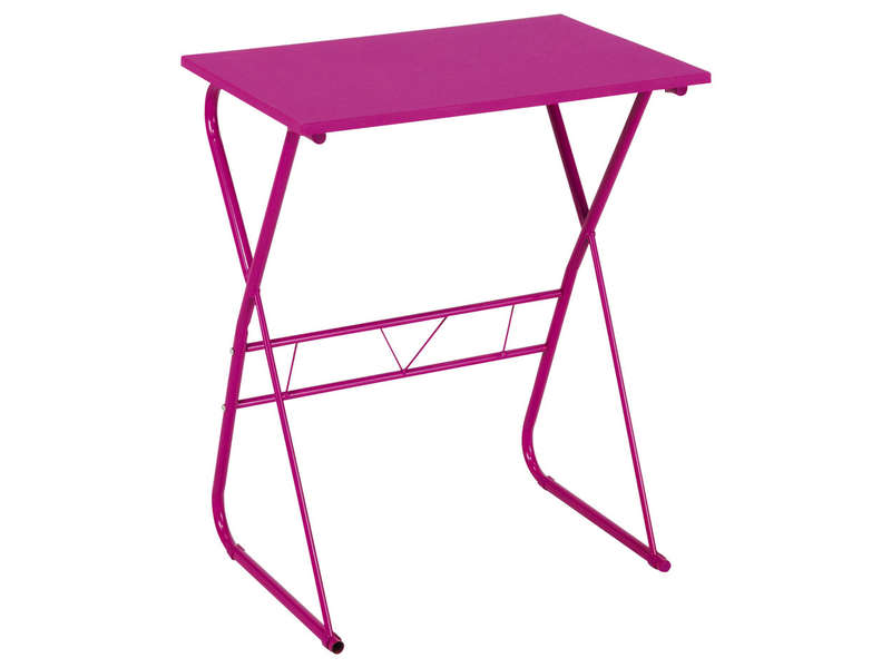 Bureau informatique pulp coloris rose vente de bureau for Mini bureau informatique