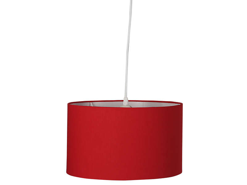 Suspension small tamy coloris rouge vente de luminaire enfant conforama for Luminaire multi suspension colore enfant